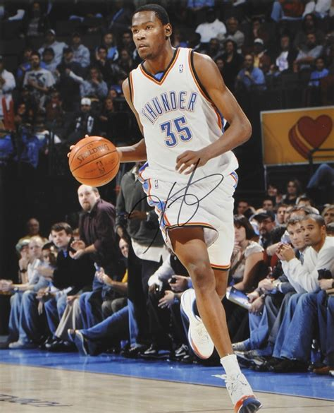 seattle supersonics kevin durant nba autographed signed