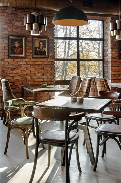 cuisine de loft décoration restaurant bistrot tarelka 22 à kiev en