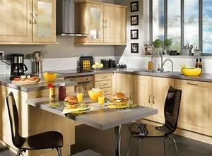 Table Bar Cuisine : cuisine conforama ouverte photo 12 25 avec une table bar tr s pratique pour les repas ~ Teatrodelosmanantiales.com Idées de Décoration
