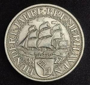 German coins 3 Mark Silver Commemorative coin, Bremerhaven ...