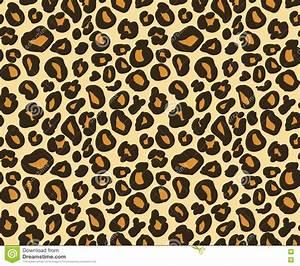 Cheetah Skin Seamless Texture, Leopard Background Vector