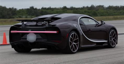 But how much does that engine weigh, exactly? Watch a Bugatti Chiron Find Its Top Speed on a Former ...