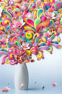 640x960 Colorful Flowers Explosion Iphone 4 wallpaper
