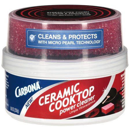 ceramic cooktop cleaner carbona ceramic cooktop power cleaner 8 8 oz walmart