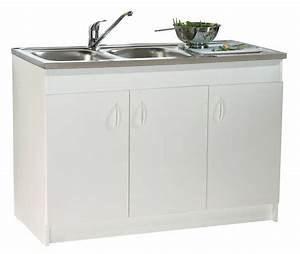 Meuble Sous Evier 120 Cm : neova meuble sous vier sim 39 hydro largeur 120 cm ~ Melissatoandfro.com Idées de Décoration