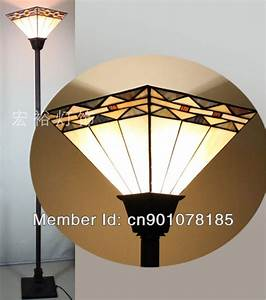 Mission style tiffany torchiere lamp dinning room floor for Tryphena tiffany floor lamp