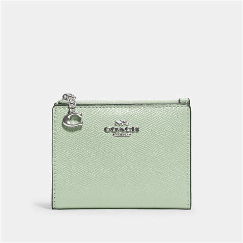 Coach snap card case in signature canvas with butterfly print 2978 coach style #2978 color im/khaki pink multi signature coated try prime cart women. COACH Snap Card Case - Shop Premium Outlets