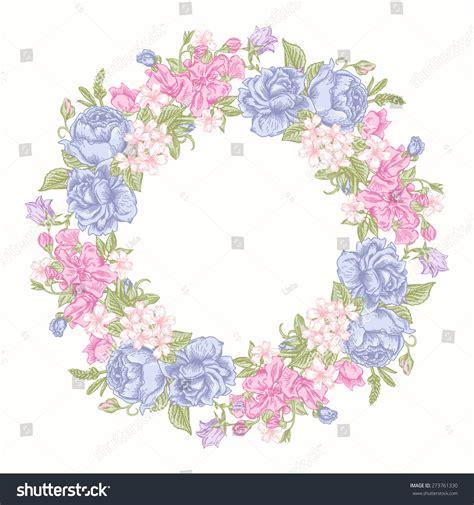 invitation card floral  wreath pastel stock vector
