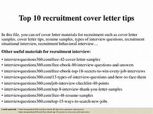 top 10 recruitment cover letter tips With top ten cover letters