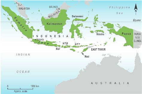 map  indonesia  neighbouring countries  location