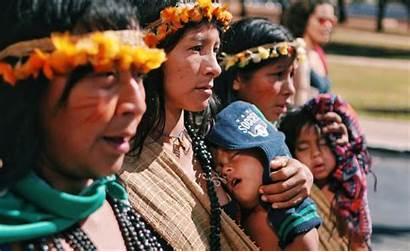 Indigenous Brazil Brazilian March Unite Territory Historic