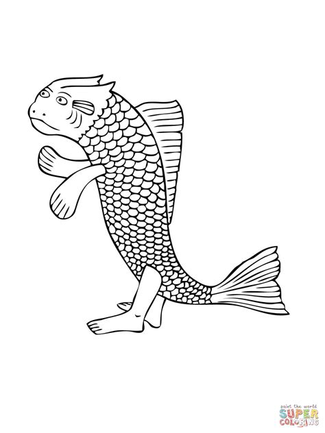mudskipper walking fish coloring page  printable coloring pages