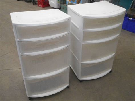 (2) 2-drawer Plastic Storage Units ... Reed Barton Zippered Flatware Drawer Liner Mainstays 4 Chest Storage Office Black Grey Crystal 5 Tower Single Bed With Drawers Philippines Husky 52 11 Tool Box Solid Wood Platform Twin Mepla Alfit Integra Slide Front Mounting Brackets Pocket Hole Jig