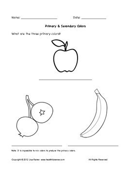 primary and secondary colors worksheet with fruit by 474 | original 424521 1