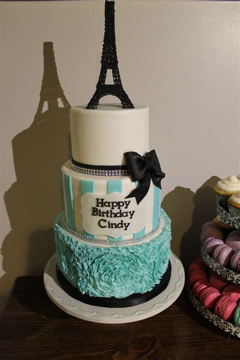 Paris Themed Birthday Cake Cakecentralcom