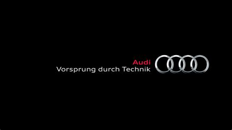 first audi logo audi vorsprung durch technik