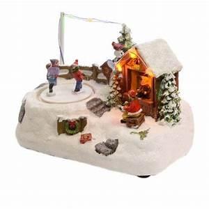 Personnage Pour Village De Noel : figurine enfant sur patinoire village de noel eminza ~ Melissatoandfro.com Idées de Décoration