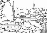 Mosque Coloring Pages Drawing Getcolorings Printable Getdrawings sketch template