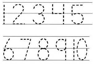 Similiar Printable Traceable Numbers 1 10 Keywords