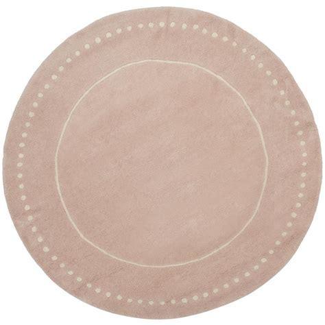 Safavieh Bella Light Pink/Ivory 5 ft. x 5 ft. Round Area