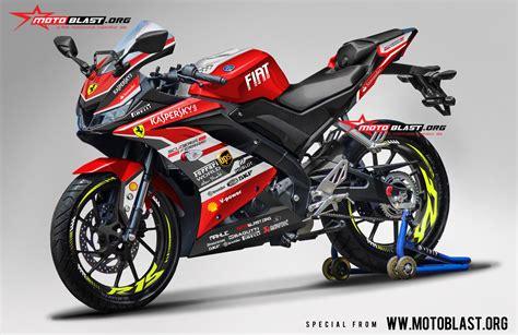 modifikasi striping all new yamaha r15 livery ferrary motoblast