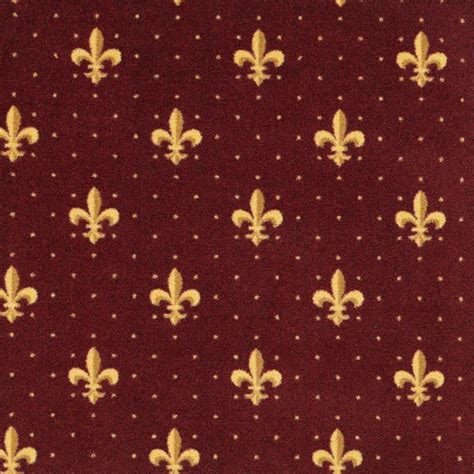 fleur de lis home theater carpet