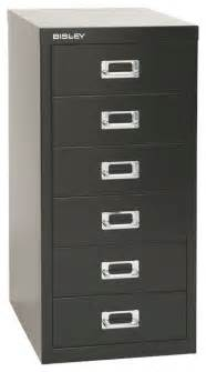 bisley 6 drawer under desk multi drawer cabinet in black