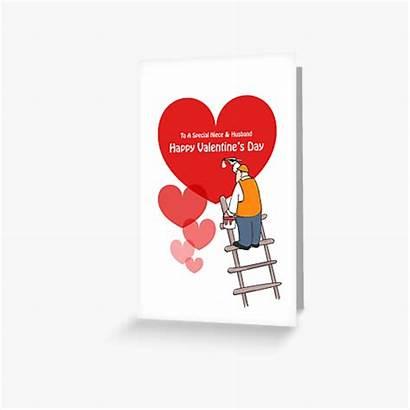 Cards Valentine Niece Card Cartoon Greeting Hearts