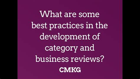What Are Some Best Practices In Development Of Category
