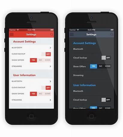 Ui Iphone Flat App Settings Ios Templates