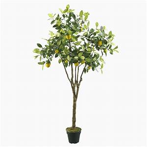 Artificial Lemon Tree with PVC Pot - Fruit Trees