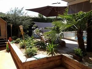 amenagement jardin contemporain jardin autres With idee amenagement jardin paysager 0 idee de salon de jardin lounge sur terrasse pierre