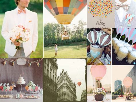 Up Up And Away Hot Air Balloon Wedding Inspiration