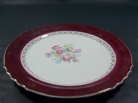 french saxon china bread salad dessert plate  gold