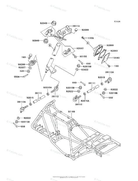Kawasaki Atv Oem Parts Diagram For Frame Partzilla