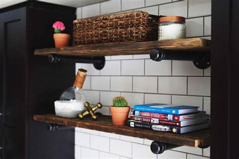 how to build an industrial pipe shelf brittany stager