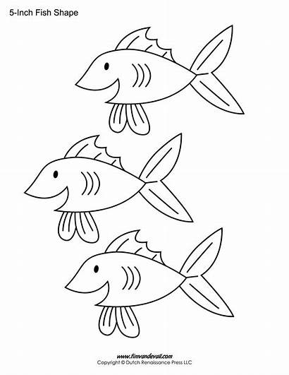 Fish Template Printable Coloring Templates Shape Drawing