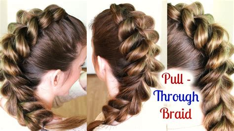 cute  easy ponytail hairstyle braidsandstyles youtube