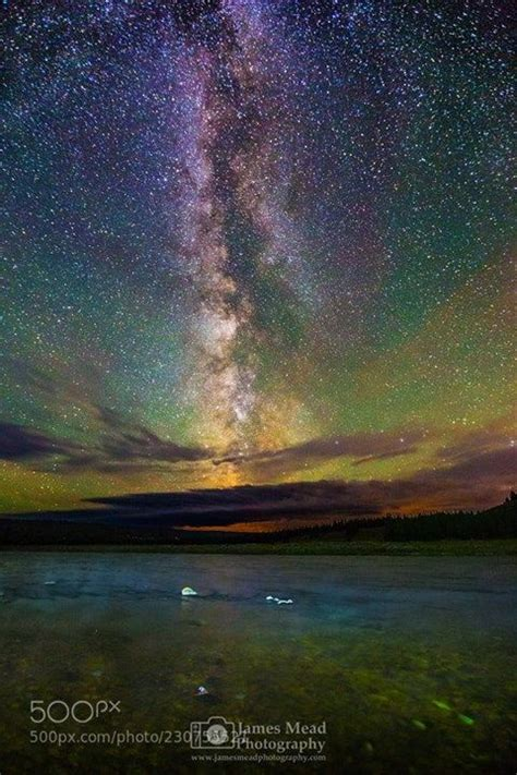 The Milky Way Over The Madison River Yellowstone National