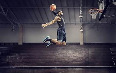 Lebron Dunk James Basketball Dunking Wallpapers Slam