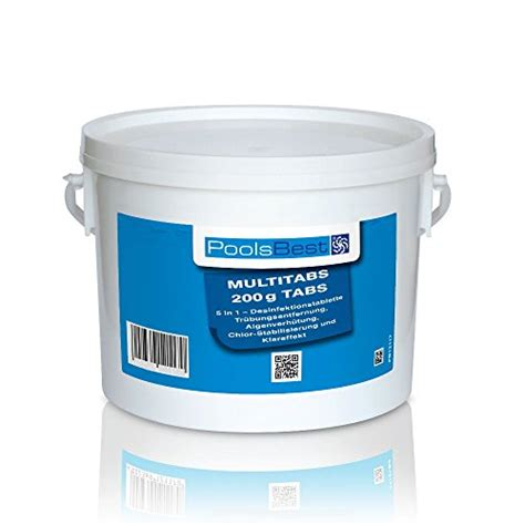 chlor multitabs test poolsbest 174 chlor multitabs 3kg 5in1 200g tabs