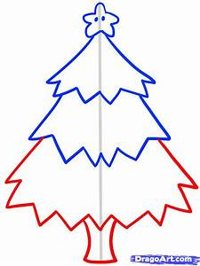 How to Draw a Christmas Tree for Kids, Step by Step ...