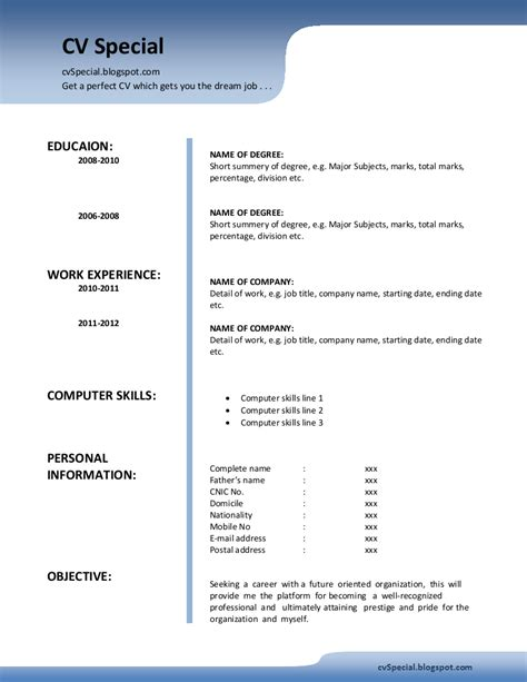 Is A Cv The Same Thing As A Resume by June 2013 Cvspecial