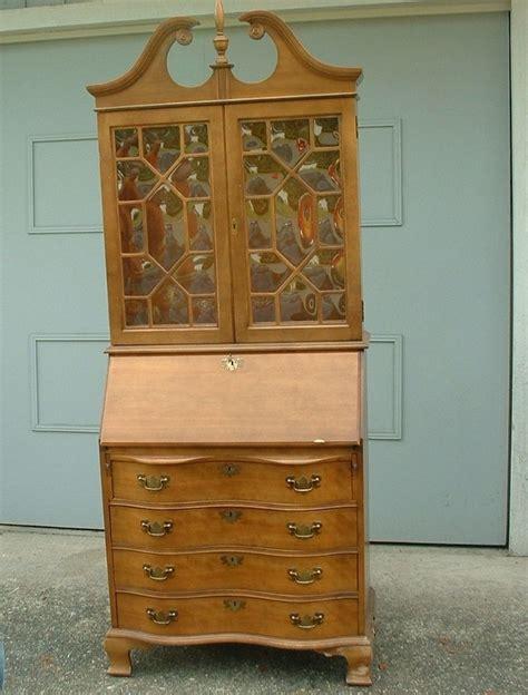 queen anne desk with hutch vintage secretary desk hutch china curved glass serpentine