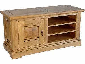 Meuble Tv En Chene : meuble tv rectangulaire maeva ch ne massif 50891 ~ Teatrodelosmanantiales.com Idées de Décoration