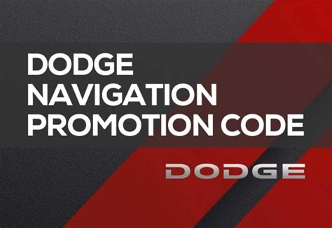 Dodge Coupons by Dodge Navigation Promotion Code 2019 Coupon Save Money Now