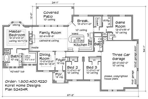 cool  formal dining room home plans blueprints