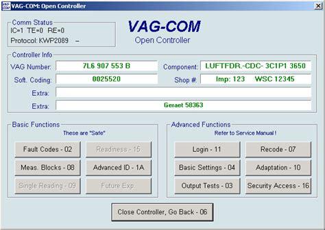 ross tech vag  suspension level control calibration