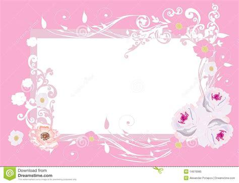 Pink Roses Frame Pattern Royalty Free Stock Photo