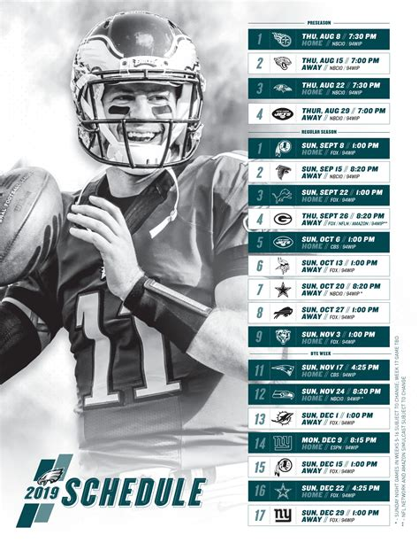 printable nfl week schedule